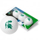 Michigan State Spartans Top Flite XL Golf Balls 3 Ball Sleeve (Set of 3)