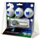 Morehead State Eagles 3 Ball Golf Gift Pack with Kool Tool