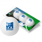 Morehead State Eagles Top Flite XL Golf Balls 3 Ball Sleeve (Set of 3)