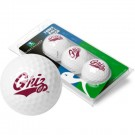 Montana Grizzlies Top Flite XL Golf Balls 3 Ball Sleeve (Set of 3)