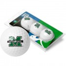 Marshall Thundering Herd Top Flite XL Golf Balls 3 Ball Sleeve (Set of 3)