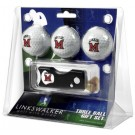 Miami (Ohio) RedHawks 3 Golf Ball Gift Pack with Spring Action Tool