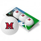 Miami (Ohio) RedHawks Top Flite XL Golf Balls 3 Ball Sleeve (Set of 3)