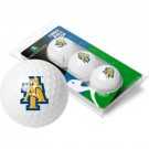 North Carolina A & T Aggies Top Flite XL Golf Balls 3 Ball Sleeve (Set of 3)