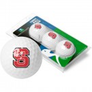 North Carolina State Wolfpack Top Flite XL Golf Balls 3 Ball Sleeve (Set of 3)