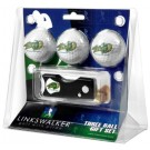 North Dakota State Bison 3 Golf Ball Gift Pack with Spring Action Tool