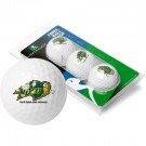 North Dakota State Bison 3 Golf Ball Sleeve (Set of 3)