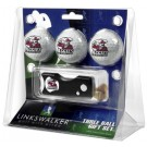 New Mexico State Aggies 3 Golf Ball Gift Pack with Spring Action Tool