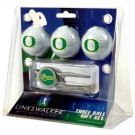 Oregon Ducks 3 Ball Golf Gift Pack with Kool Tool
