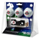 Ohio State Buckeyes 3 Golf Ball Gift Pack with Spring Action Tool