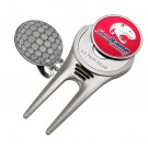 South Alabama Jaguars Divot Tool Hat Clip with Golf Ball Marker (Set of 2)