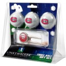 St. Cloud State Huskies 3 Golf Ball Gift Pack with Cap Tool