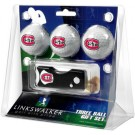 St. Cloud State Huskies 3 Golf Ball Gift Pack with Spring Action Tool