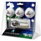 South Dakota Coyotes 3 Ball Golf Gift Pack with Kool Tool