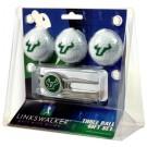 South Florida Bulls 3 Ball Golf Gift Pack with Kool Tool