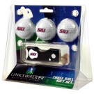 Southern Illinois Salukis 3 Golf Ball Gift Pack with Spring Action Tool