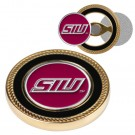 Southern Illinois Salukis Challenge Coin with Ball Markers (Set of 2)