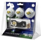 Southern Mississippi Golden Eagles 3 Golf Ball Gift Pack with Spring Action Tool