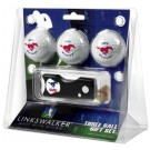 Southern Methodist (SMU) Mustangs 3 Golf Ball Gift Pack with Spring Action Tool