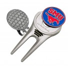 Southern Methodist (SMU) Mustangs Divot Tool Hat Clip with Golf Ball Marker (Set of 2)