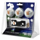 Syracuse Orangemen 3 Golf Ball Gift Pack with Spring Action Tool