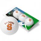 Syracuse Orangemen Top Flite XL Golf Balls 3 Ball Sleeve (Set of 3)