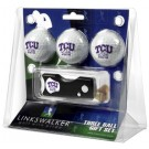 Texas Christian Horned Frogs 3 Golf Ball Gift Pack with Spring Action Tool
