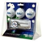 Tulsa Golden Hurricane 3 Ball Golf Gift Pack with Kool Tool