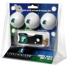 Tulane Green Wave 3 Golf Ball Gift Pack with Spring Action Tool