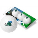 Tulane Green Wave 3 Golf Ball Sleeve (Set of 3)