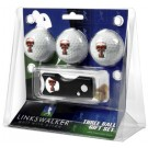 Texas Tech Red Raiders 3 Golf Ball Gift Pack with Spring Action Tool