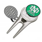 North Dakota Sioux Divot Tool Hat Clip with Golf Ball Marker (Set of 2)