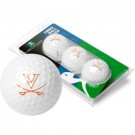 Virginia Cavaliers Top Flite XL Golf Balls 3 Ball Sleeve (Set of 3)