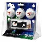 Virginia Tech Hokies 3 Golf Ball Gift Pack with Spring Action Tool