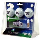 Washington Huskies 3 Ball Gift Pack with Hat Clip
