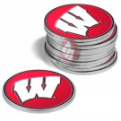Wisconsin Badgers Golf Ball Marker (12 Pack)