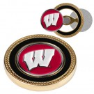 Wisconsin Badgers Challenge Coin with Ball Markers (Set of 2)