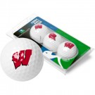Wisconsin Badgers Top Flite XL Golf Balls 3 Ball Sleeve (Set of 3)