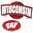 Wisconsin Badgers Slider Clip with Golf Ball Marker (Set of 3)