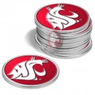 Washington State Cougars Golf Ball Marker (12 Pack)