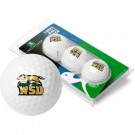 Wright State Raiders 3 Golf Ball Sleeve (Set of 3)
