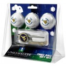 West Virginia Mountaineers 3 Ball Golf Gift Pack with Kool Tool