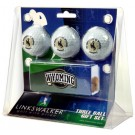 Wyoming Cowboys 3 Ball Gift Pack with Hat Clip