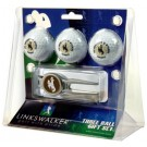 Wyoming Cowboys 3 Ball Golf Gift Pack with Kool Tool
