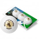 Wyoming Cowboys Top Flite XL Golf Balls 3 Ball Sleeve (Set of 3)