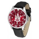 Alabama A & M Bulldogs Competitor AnoChrome Men's Watch with Nylon/Leather Band and Colored Bezel
