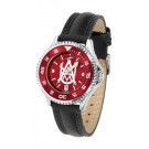Alabama A & M Bulldogs Competitor Ladies AnoChrome Watch with Leather Band and Colored Bezel