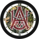 "Alabama A & M Bulldogs 12"" Camo Wall Clock"
