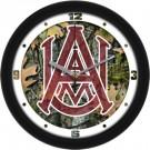 "Alabama A & M Bulldogs 12"" Camo Wall Clock"