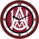 "Alabama A & M Bulldogs 12"" Dimension Wall Clock"